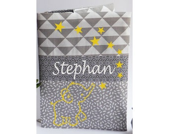 Protects health record customizable Elephanttissu gray and yellow elephant