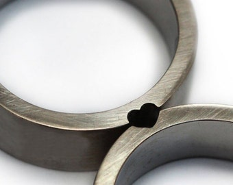 Julian's special order   Heart ring set sterling silver- minimalists rings