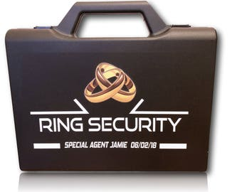 Personalised Ring Security Box - Agent - Ring Bearer - Page Boy - Wedding Briefcase