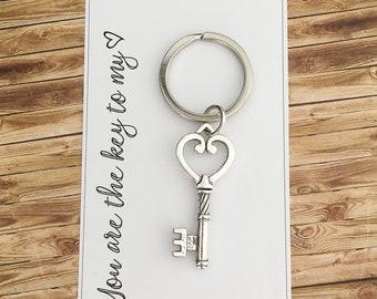 Key to my heart Anniversary gift - boyfriend, girlfriend, husband, wife
