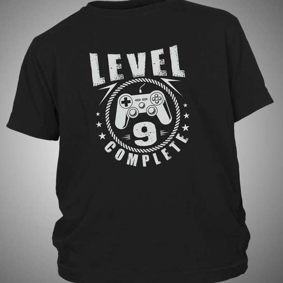Level 9 Complete Youth Boys Gamer Birthday T Shirt