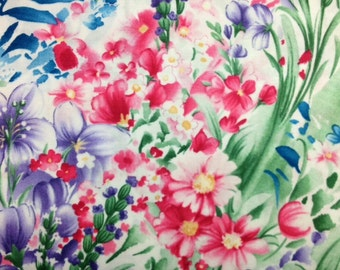 Timeless Treasures FLEUR (MULTICOLOR) Cotton Premium Fabric - sold by 1/2 yard