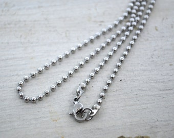 """Stainless Steel Bead Chain Necklace 