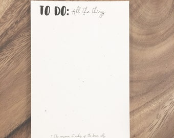 To Do: All the Things Notepad
