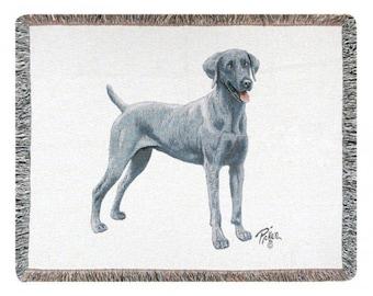 Personalized Weimaraner Dog Throw Blanket