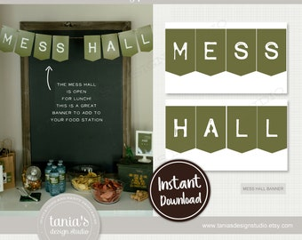 Army - Toy Soldier - Mess Hall Banner - Instant Download - by Tania's Design Studio