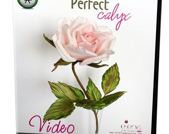Video tutorial how to make silk rose calyx with flower making tools