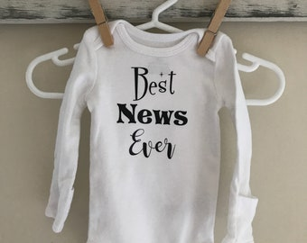 Free shipping! Best News Ever Onesie
