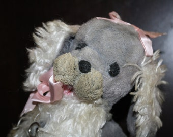 Vintage Stuffed PUPPY Dog Musical Are You Sleeping Toy Dog