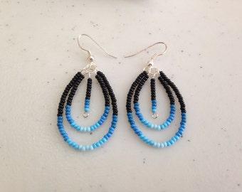 Native Beaded Wire Earrings