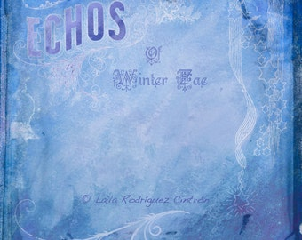 Digital Texture: Winter Fae in Blue and Snowy White