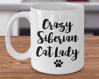 Siberian Cat – Siberian Cat Gift - Crazy Cat Lady – Siberian Cat Lover - Crazy Cat Lady - Siberian Cat Mug