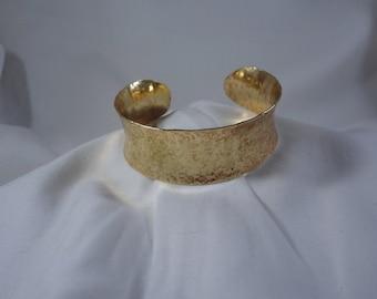 Concave martelé Bracelet manchette en laiton (CCB244)