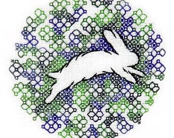 Digital Download of Rabbit Running Beginners Hand Embroidery Design