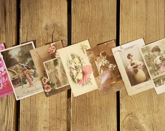 Lot of 7 cards postcards vintage
