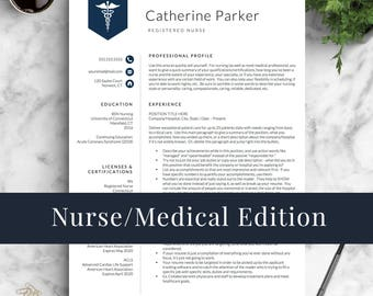 Doctor Resume Template For Word U0026 Pages, Nurse Resume Template | Nurse CV  Template |