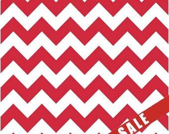 Chevron Fabric - Riley Blake Chevron - Red Chevron - ON SALE - 1 Yard