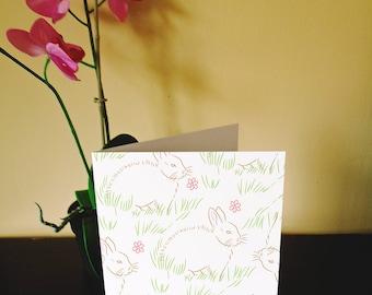 Animal Pattern Greetings Cards (Rabbit)