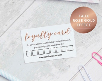 Loyalty Cards Etsy - Free printable loyalty card template