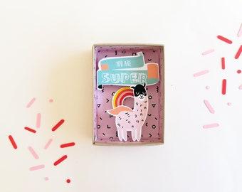 Fête des pères You are super boîte à message / boîte allumettes / diorama papier miniature / Matchbox décoratif / Message amour / Fête papa