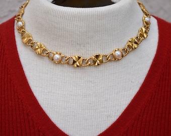 Anne Klein Reversible 2 Way Choker Necklace Vintage