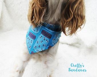 Mason Jar Lightning Bug / Firefly Dog Collar Bandana