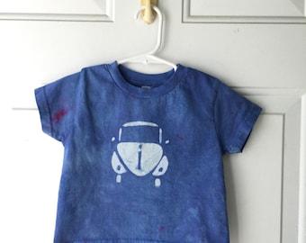 Kids Car Shirt, Blue Car Shirt, Kids Beetle Shirt, Boys Car Shirt, Girls Car Shirt, Kids Volkswagen Shirt, Childrens Car Shirt (2T)