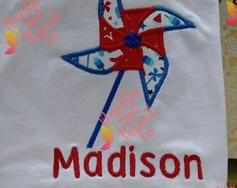 Fourth Of July girl shirt