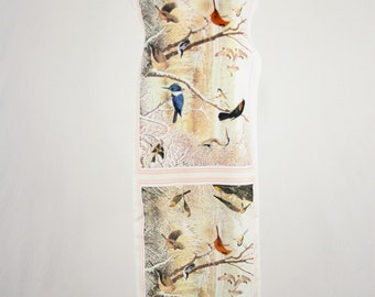 1970s Realistic Bird Oblong Scarf 1979 National Wildlife Federation