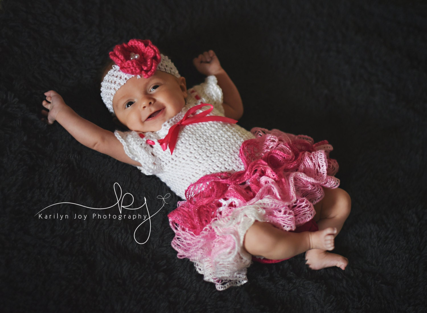 Crochet Baby Dress With Ruffle Skirt Newborn Tutu