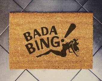 BADA BING doormat 60x40cm coconut Custom doormat the tony soprano sopranos strip club