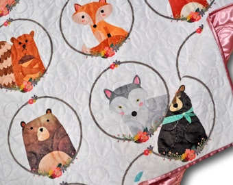 Woodland Baby Quilt * Animal Baby Blanket * Woodland Blanket * Animal Quilt * Animal Baby Quilt * Forest Baby Quilt * Forest Baby Blanket