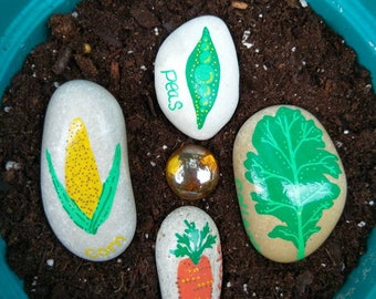Hand Painted Vegetable Markers