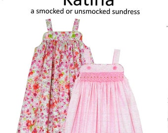 Katina Smocked Sundress Sewing Pattern