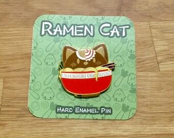 Enamel Pin Ramen Cat