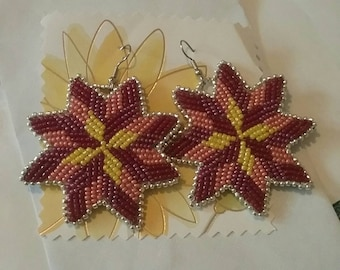 Native American Star Quilt Earrings