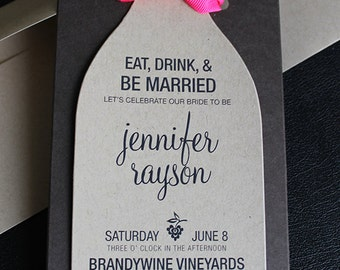 Wine theme bridal shower invitations wine bottle wine bottle invitation wine invites die cut wine bottle invitation wine theme bridal filmwisefo