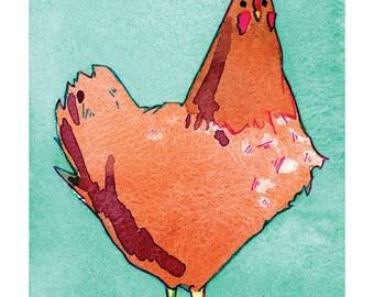 State Birds -Rhode Island Red