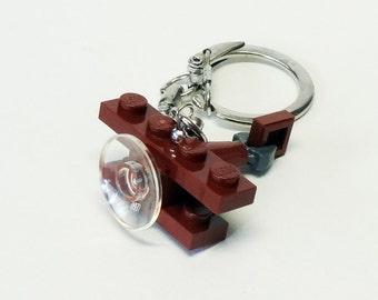 Mini Brown Bi-Plane Key chain