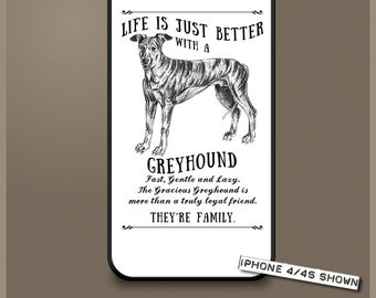 Greyhound dog phone case cover iPhone Samsung ~ Can be Personalised