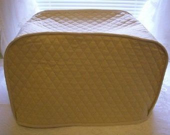 Khaki Toaster or Convection Oven Covers Quilted Fabric Kitchen Small Appliance Cover Made to Order