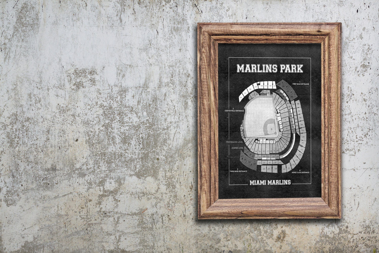 Vintage print of marlins park seating chart miami marlins baseball vintage print of marlins park seating chart miami marlins baseball blueprint on photo paper matte paper or stretched canvas malvernweather Choice Image