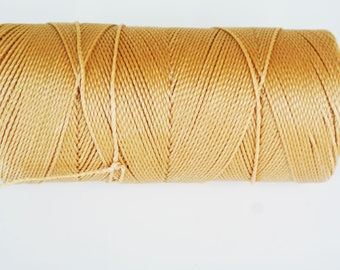 6 m of thread (Linhasita) nabbed macrame Tan 1 mm