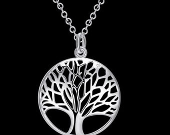 Celtic Viking SilverPlated Tree Of Life Pendant Necklace
