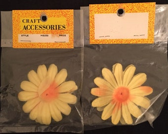 """Vintage Craft Accesories 2.5"""" Mums petals set of 2 packages for millinery flower making New Old Stock"""