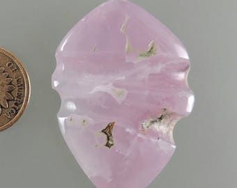 Smithsonite Cabochon, Translucent Smithsonite Cabochon, Pink Purple Cab, Designer Cabochon, Gift Cab, C2393, Handcrafted by 49erMinerals