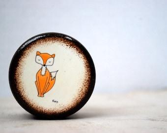 Foxy Powder Box - Fox Wood Box