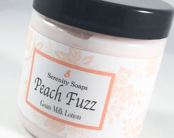 Lotion, Body Lotion, Hand Lotion, Goat Milk Lotion, Body Butter, Moisturizer, Peach