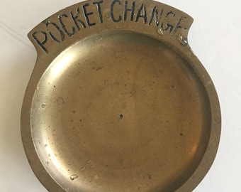 Brass Pocket Change Tray, Made in India, Men's Accessory