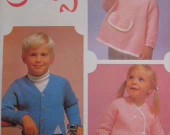 1960's 3 Vintage Knitting PDF Patterns Children's Sweaters 3009, 3015, 3021